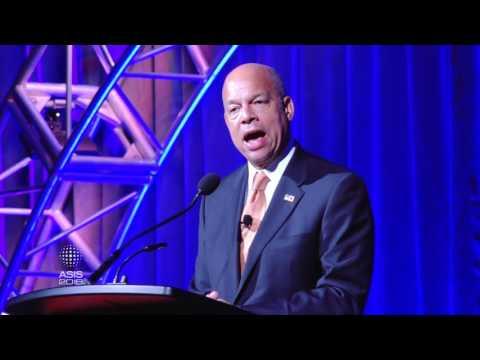 U.S. Secretary of Homeland Security Jeh C. Johnson addresses attendees at ASIS 2016