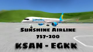 Roblox Acceleration Flight Simulator || Sunshine Airline San Diego - London