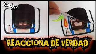 COMO DIBUJAR LA REACCION DEL MAGO DE FUEGO | CLASH ROYALE | how to draw fire wizard reaction