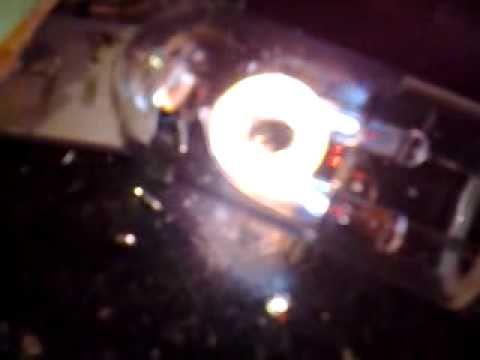 Xenon flashtube, strange orange glow!