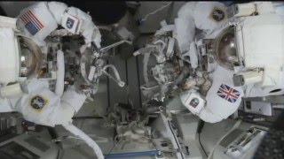 FULL ISS EVA US-35 emergency aborted spacewalk coverage