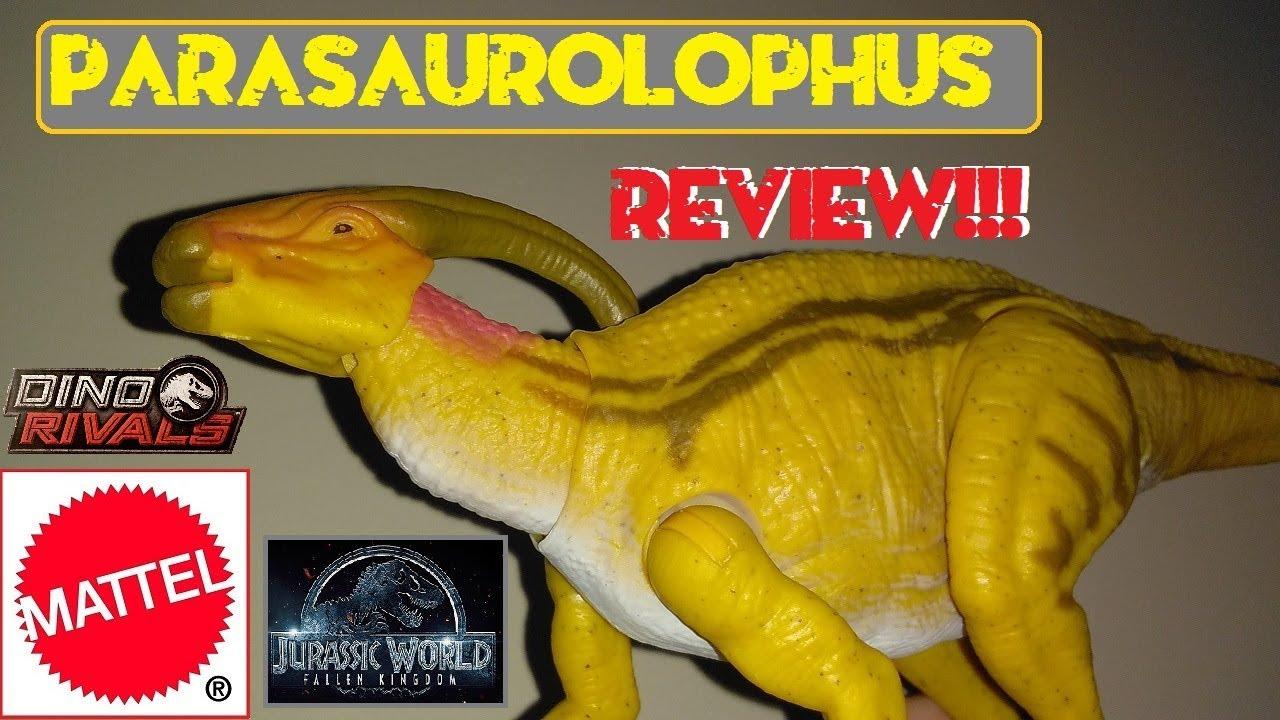 Jurassic World Dual Attack Dino Rivals Parasaurolophus Dinosaur Figure BRAND NEW