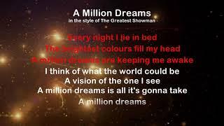 A Million Dreams - ProTrax Karaoke Demo