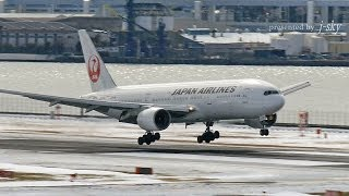 Plane Spotting in Snow - Tokyo Haneda Airport : JAL, ANA, Skymark, StarFlyer, etc.
