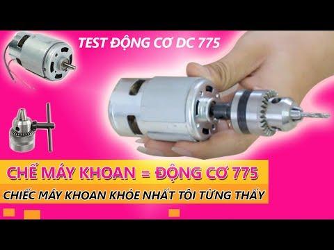 Làm Máy Khoan Bằng Động Cơ 775 - Máy Khoan Chế Khỏe Nhất Là Đây - Test Động Cơ 775 - Banlinhkien.vn
