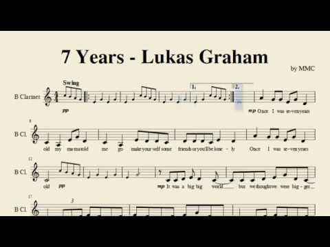 7 Years   Lukas Graham Clarinet Sheet Music By Saoud