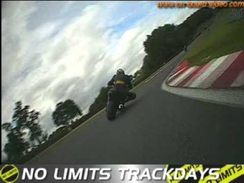 on bike video, track bike hire yamaha r6 outon park no limits track day intermegiate group
