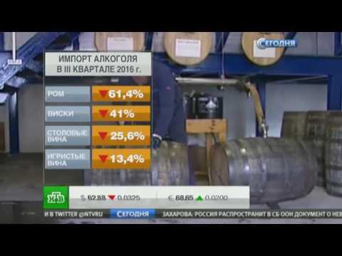 Импорт алкоголя в Россию резко сократился