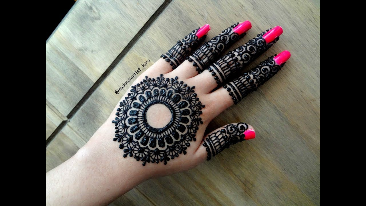Beautiful Latest Simple Easy Arabic Gulf Mandala Henna Mehndi