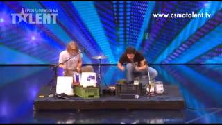 Drummers Playing Pots and Buckets, Panjabi MC Cover, Czecho-Slovakia's Got Talent