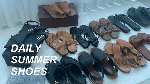 데일리 여름신발 하울   샌들,슬리퍼 추천   Summer shoes haul (질샌더,마르니,솔트워터,ATP 등) /simple.B