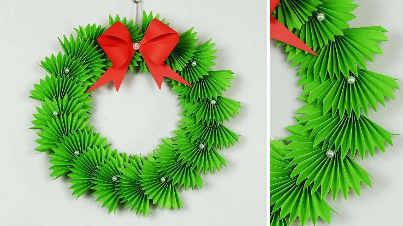Paper Christmas Wreath How To Make Decorations Ideas