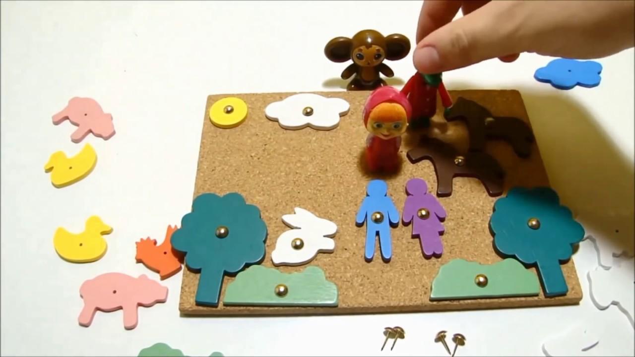 Развивающий мультфильм для детей: Маша, Чебурашка и Гена ...