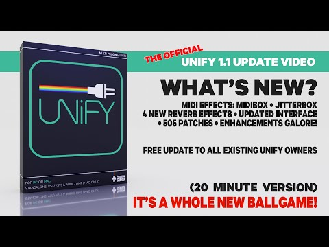Unify 1.1 is HERE - What's New? 20 min SHORT video