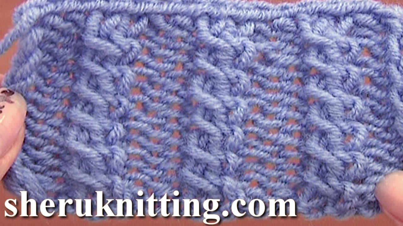 Knitting Cross Stitch Pattern : Front Cross Cable Stitch Pattern Knitting Tutorial 11 Easy Cable Stitch Patte...