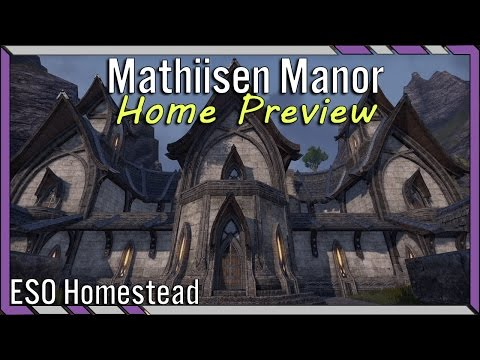 Mathiisen Manor ESO House Preview - Detailed and Relaxing - Altmer Large House Elder Scrolls Online