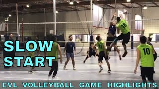 SLOW START - Stuff Curry vs Tall Ones Volleyball HIGHLIGHTS - EVL #1 (Elevate Volleyball League)