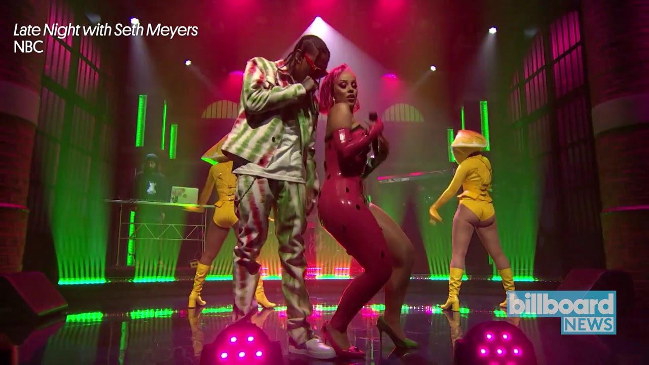 Doja Cat & Tyga Give 'Juicy' Performance on 'Late Night With Seth Meyers' | Billboard News