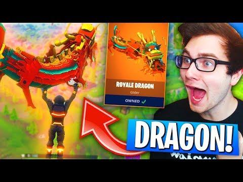 *NEW* Legendary DRAGON GLIDER Gameplay In Fortnite: Battle Royale! (Season 3 Update)