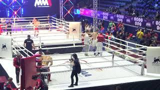 84kg: Denis Makher (Belarus) vs. Magomed Shakhrudinov (Russia). 2017 World MMA Championships