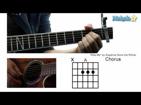 """How to Play """"Kiss Me"""" by Sixpence None the Richer on Guitar"""