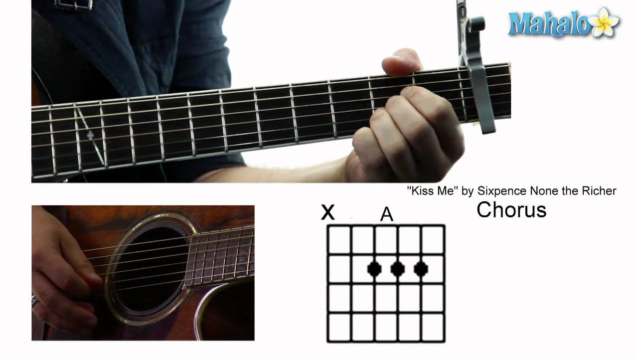 How to play kiss me by sixpence none the richer on guitar youtube how to play kiss me by sixpence none the richer on guitar hexwebz Images