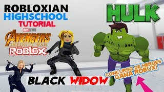 Come fare Hulk e Black Widow a Robloxian HighSchool Vincitore e un NUOVO sorteggio Robux