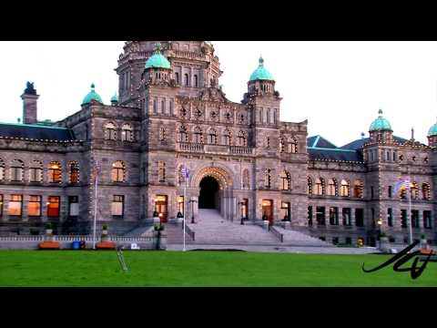 Victoria British Columbia Video Tour -  the sun sets and light come on  - YouTube