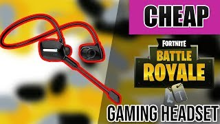 Best Cheap $25 Fortnite Mobile Gaming Headset/Earbuds Review | Kelodo S802 Bluetooth Headphones