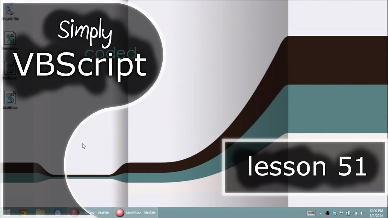 VBScript Basics, Part 51 | Execute - Read from another vbscript file