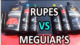 RUPES VS MEGUIAR'S !!! what is the best car polish?