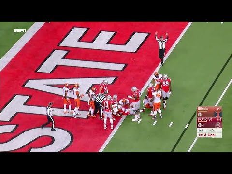 Mike Weber's 4-Yard Touchdown vs. Illinois