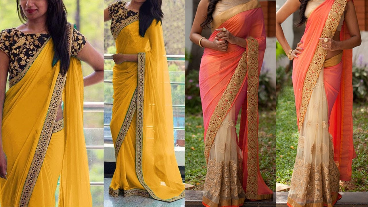 Different hairstyles to try with sarees - Saree Draping Styles For Party 5 Gorgeous Ways To Wear Saree With Different Pallu Styles Look Slim