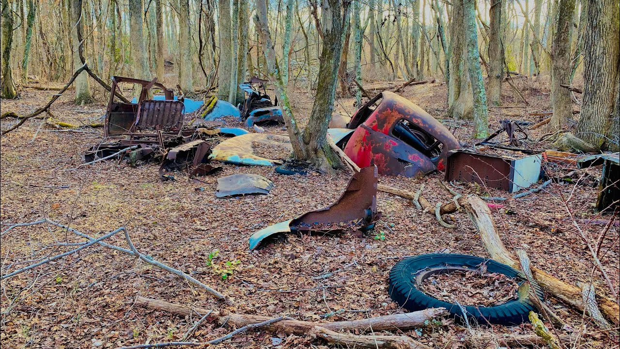 Abandoned Junkyard New Jersey Vintage Cars and Trucks - YouTube