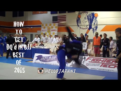 How to get DQ'd in BJJ - BEST COMPILATION  [HELLO JAPAN]