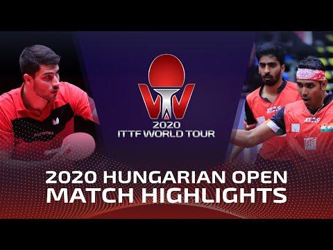 Benedikt D./Patrick F. vs Achanta K./Gnanasekaran S.   2020 ITTF Hungarian Open Highlights (Final)