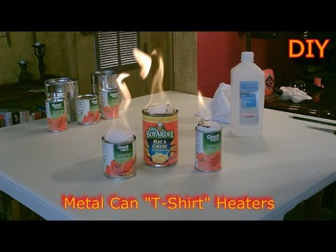 """Homemade Heaters! - The Metal Can """"T-Shirt"""" Heater - DIY Rolled Wick Heater - SHTF/Survival Heater"""