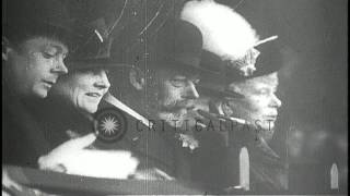 Edward, Prince of Wales, King George V and Queen Mary attend a baseball game in E...HD Stock Footage