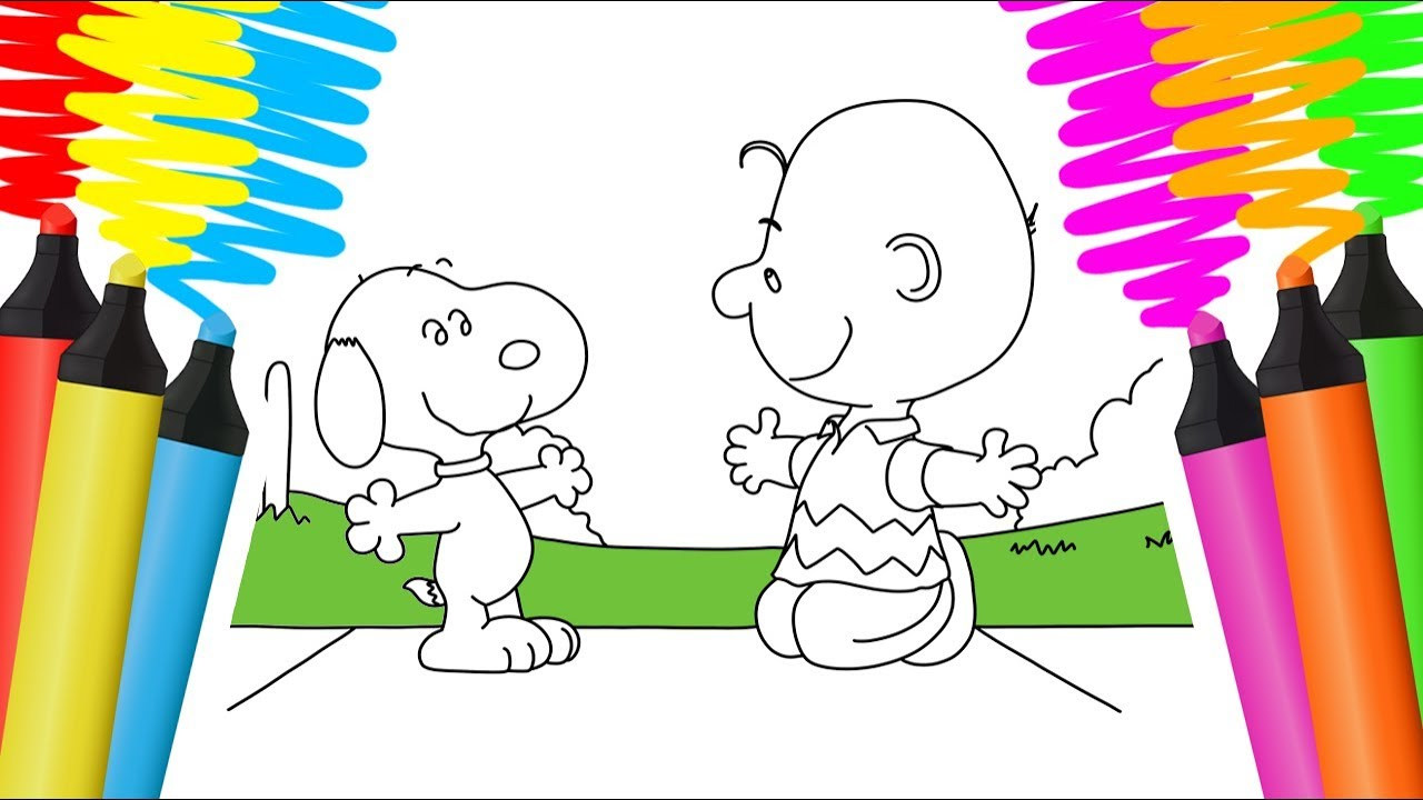 Colorir Snoopy E Sua Turma Desenho Para Pintar Youtube