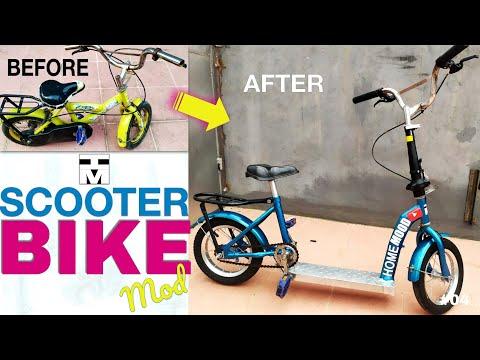 Modifikasi Sepeda Anak Menjadi Sepeda Skuter Scooter Bike Modification Youtube