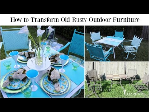 How To Transform Old Rusty Outdoor Furniture (Spring Outdoor Space Collab)