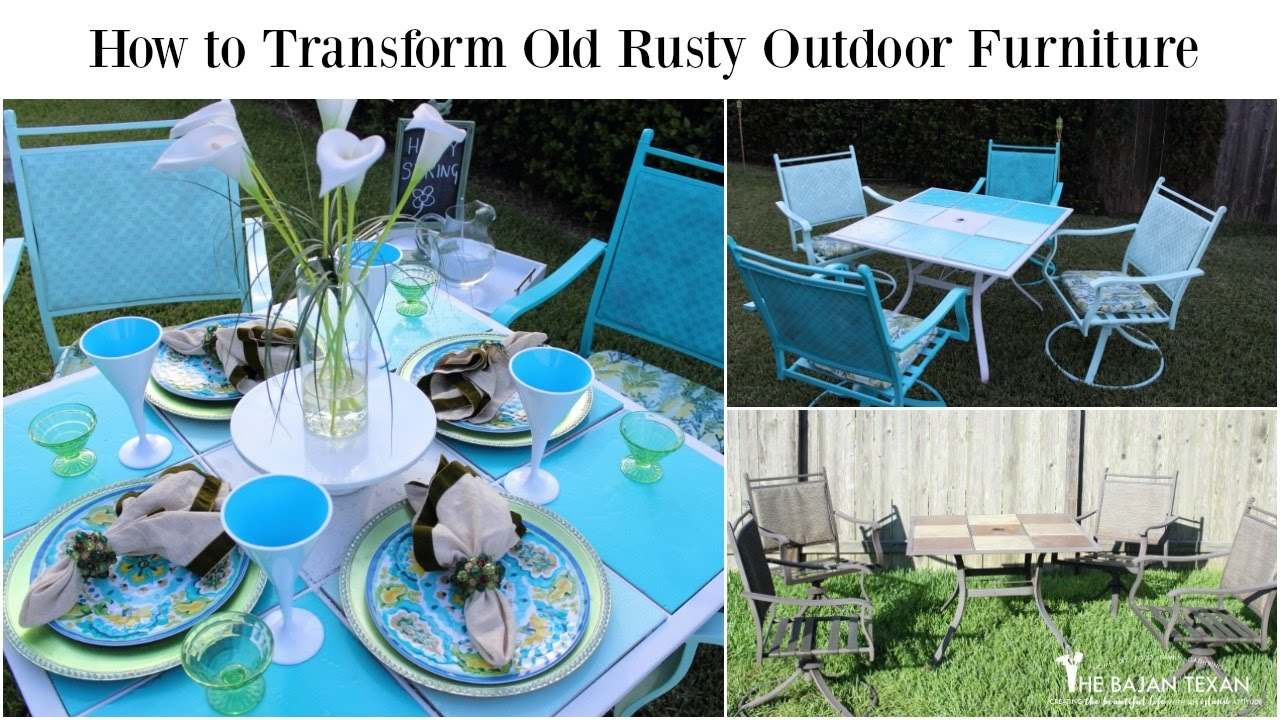 How to transform Old Rusty Outdoor Furniture (Spring Outdoor Space Collab) - How To Transform Old Rusty Outdoor Furniture (Spring Outdoor Space