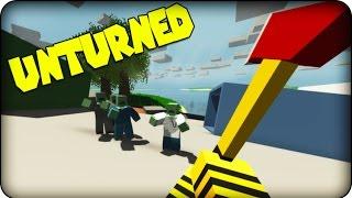 Unturned  Zombie Survival Game  SAMURAI TURTLE !