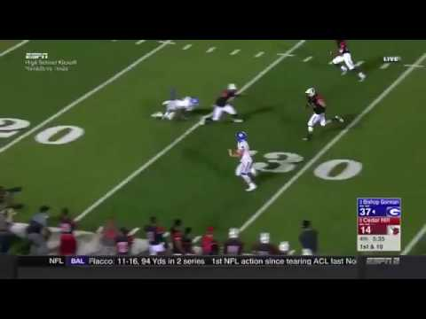 Tate Martell Ohio State QB commit 50 yard TD run for Bishop Gorman vs Cedar Hill
