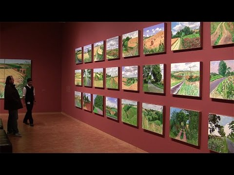 David Hockney: A bigger picture - Ausstellung im Museum Ludwig, Köln (pop art landscape paintings)