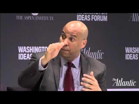 Cory Booker and Mike Lee / Washington Ideas Forum 2015