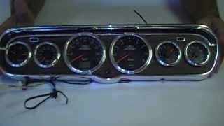 1965 1966 Mustang 6 Gauge Instrument Cluster - Hye-Po Deluxe Bezel Legacy Gauge Kit