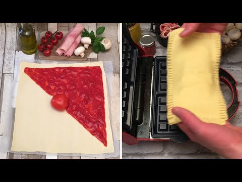 La Pizza-Gaufre 😳 Cuire une pizza au gaufrier, c'est possible💡