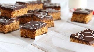 Petits gâteaux marbrés au chocolat et cacahuètes / Penaut chocolate bars recipe / حلوة الرخامة