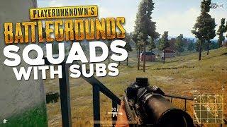 PUBG Subscriber Squads! Join via Discord (PLAYERUNKNOWN'S BATTLEGROUNDS Gameplay Stream)